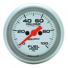 Ultra-lite Fuel Pressure Gauge 0-100 Psi Auto Meter 4363