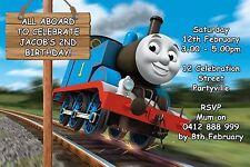 Printable Invite Personalised Thomas The Tank Engine Invitation JPEG You Print