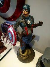 SIDESHOW COLLECTIBLES PREMIUM FORMAT captain america EXCLUSIVE 1/4 statue