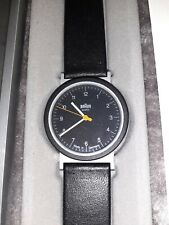 Braun Germany AW10 Watch with leather strap in box rrp £200 with papers