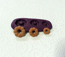 Silicone Mold Miniature Pon De Ring Doughnut Moulds Set (9-14mm) Fake Sweets