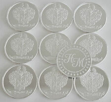 """10 ONE OZ HW MINTING HERALDRY MINT """"ITALY"""" FINE .999 SILVER COINS SILVER ROUND"""