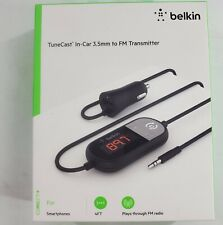Belkin 1-port USB-A TuneCast In-Car 3.5mm Aux Audio to FM Transmitter - Black