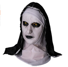 The Horror Scary Nun Latex Mask w/Headscarf Valak Cosplay Halloween Costume NEW