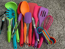 14 Piece Colorful Kitchen Farberware Silicone Gadget Set