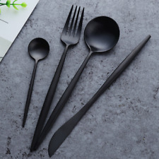 Matte Black Stainless Steel Cutlery Set