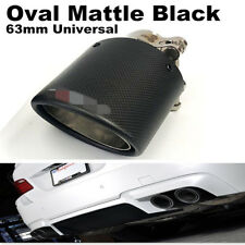 Carbon Fiber Exhaust Tips 63mm Inlet 89mm outlet Car Muffler Pipe Matte Black