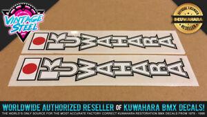 1983 - 1985 Kuwahara 'FORK' Vintage BMX Decal Sticker (White) KZ Laserlite forks