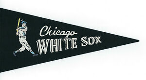 "1960's Chicago White Sox mini pennant 9"" vintage logo original felt"