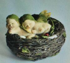 Top Collection Miniature Fairy Garden,Terrarium Twin Fairy Babies in Bird Nest