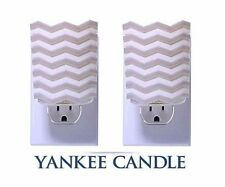 YANKEE Candle CHEVRON Scent Plug in Home Fragrance Electric Base GRAY Decor LOT