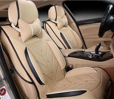 Beige Four Seasons Car Seat Cover For Polo CRV Beetle Rav4 Passat Focus 8pcs
