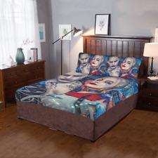 New Custom Harley Quinn Suicide Duvet Cover Sets Pillowcase 3-Pieces Bedding Set