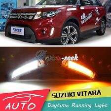 DRL FOR SUZUKI VITARA 2015 2016 LED DAYTIME RUNNING LIGHT FOG LAMP W TURN SIGNAL