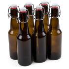 6-Pack 11 oz. Grolsch Glass Beer Bottles - Homebrew Alcohol Tea & Soda