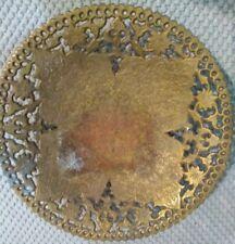 "Vintage 7"" Brass Indian flat bowl"