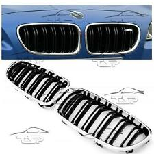 FRONT GRILLS BLACK-CHROME FOR BMW F10 F11 from 2010 M5 LOOK SERIES 5 SPOILER NEW