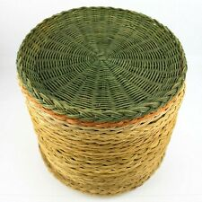 New listing Wicker Bamboo Picnic Paper Plate Holders Variety Styles Reusable Lot of 24
