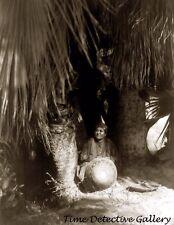 Cahuilla Indian Woman w/Basket Cahuilla Desert, Calif. - 1924 - Historic Photo