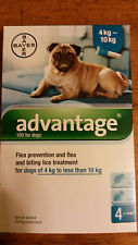 Advantage Teal 4 pack for Medium Dogs 11-22lbs