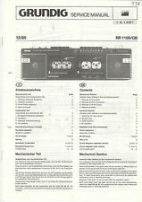 Grundig Service Anleitung Manual  RR 1100/GB  B945