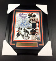 WALTER PAYTON AUTOGRAPHED CHICAGO BEARS 8X10 PHOTO FRAMED SIGNED AUTO PSA COA