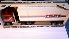 NYLINT 1/8 Scale - Steel GMC 18 Wheeler with Trailer - HON Company - No 911-Z
