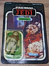 Kenner Star Wars Chief Chirpa RETURN OF THE JEDI 1983 65 Back-B Unpunched