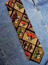 1910 Harley Davidson  Ralph Marlin Necktie Vintage 1994 Silk USA