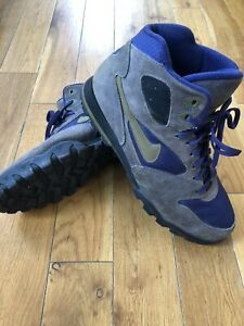 Vintage Nike Caldera Plus Men's Hiking Boots Shoes Brown Purple Green Size 8.5