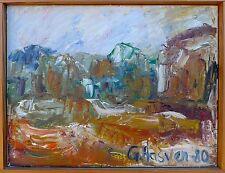 Espressionista -spätsommer in Den Montagne -ölgemälde Autografato Gunn Hasven