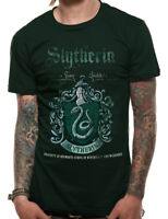 Slytherin Quidditch Team Crest Official Harry Potter Green Mens T-shirt