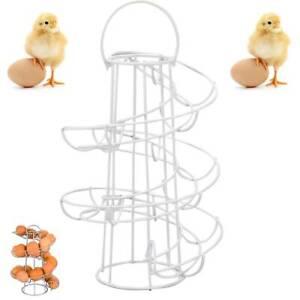 Kitchen Spiral Helter Skelter Egg Holder Stand Rack Storage Holds up to 18 Eggs