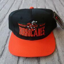 Vintage New Miami Hurricanes Snapback Hat Cap 90s Two Tone Florida
