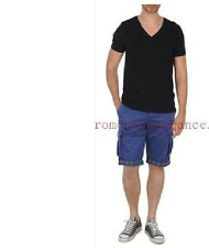 SHORT PANT     DESIGUAL  BANJUL blue     Taille 30  = ( 40 )