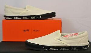 Vans x WTAPS OG Classic Slip On NEW White Black VN0A45JK20F1 Men's 12 Sneakers