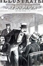 Traveling Gambler 1873 RAILROAD SMOKING CAR EUCHRE CARD GAME POKER PASSENGERS