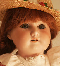 German Bisque Doll Leather Body