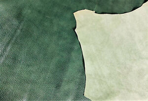 Green Pebble Grain Leather Cow Hide Cowhide Accessory Bag Craft 21 Square Foot