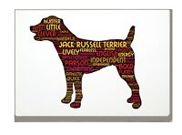 Jack Russell Word Art Dog Canvas A4A3A2A1 Mothers Day Gift Personalised Option
