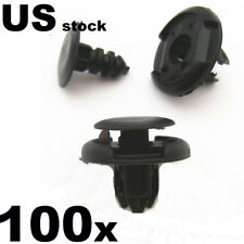 US 100 Pcs For Honda Black Nylon Bumper Fender Trim Retainer Clips 91501-S04-003