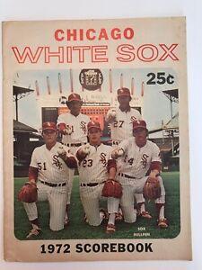Chicago White Sox 1972 baseball scorebook