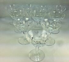 "Elegant Set of 9 Waterford ""Sheila"" Pattern 4 3/4"" Champagne/Sorbet  Glasses"