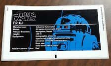 LEGO ULTIMATE COLLECTOR SERIES STAR WARS 10225 R2 D2 STICKER SHEET ONLY(NOT SET)