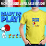 Peanuts Ready Play Football Snoopy Woodstock Team Toddler Kids Tee Youth T-Shirt