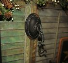 Primitive Antique Vtg Style Oval Carriage Country Farm Light Wall Hanger Hook