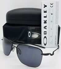4bc583fb41 NEW Oakley Tailhook sunglasses Black Grey 4087-01 Wire Rimless Aviator  AUTHENTIC