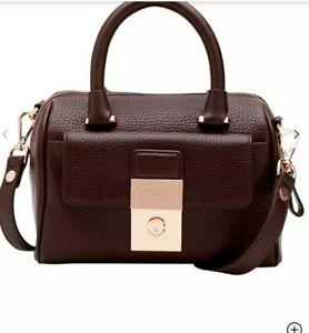 Ted Baker Emilya Leather Mini Duffle Bag, Oxblood