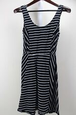 2a2f9ebebc2 Mossimo Cotton Blend Stretch Black   White Striped Fit   Flare Dress Size  Medium