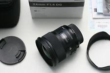Sigma AF 1,4/24mm DG ART HSM für Nikon digital, wie NEU!